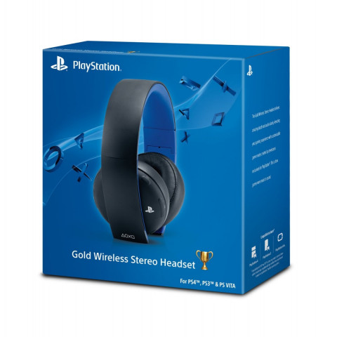 Sony - New Gold Wireless Headset 7.1 Black