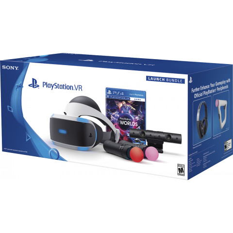 Sony - Playstation Vr Full Bundle Move Worlds - CUH-Z1 series