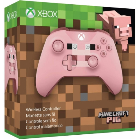 Xbox One - Controle Wireless Minecraft Pig