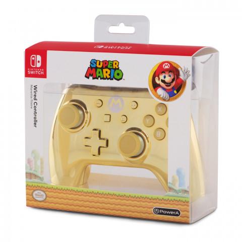 Switch - Pro Controle com Fio  Chrome - Mario Power A