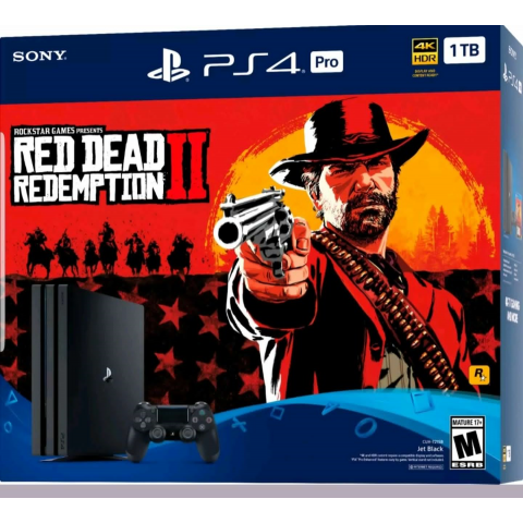 SONY - Playstation 4 Pro 1T Red Dead - CUH 7215B