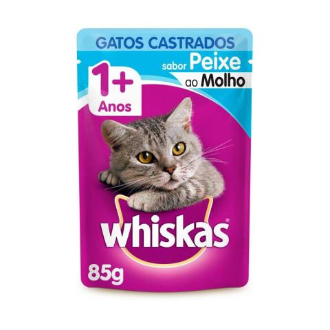 Whiskas Gatos Castrados Sabor Peixe 1+