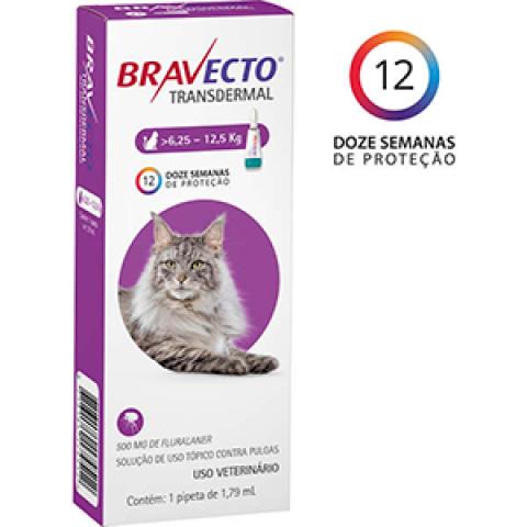 ANTIPULGA BRAVECTO TRANSDERMAL GATOS - DE 6,25 A 12,5 KG