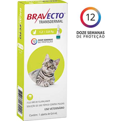 ANTIPULGA BRAVECTO TRANSDERMAL GATOS - DE 1,2 A 2,8 KG
