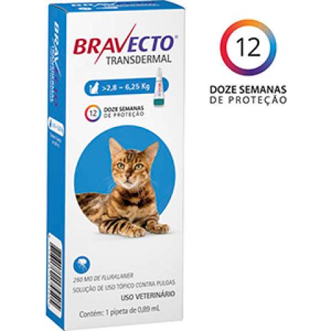 ANTIPULGA BRAVECTO TRANSDERMAL GATOS - DE 2,8 A 6,25 KG