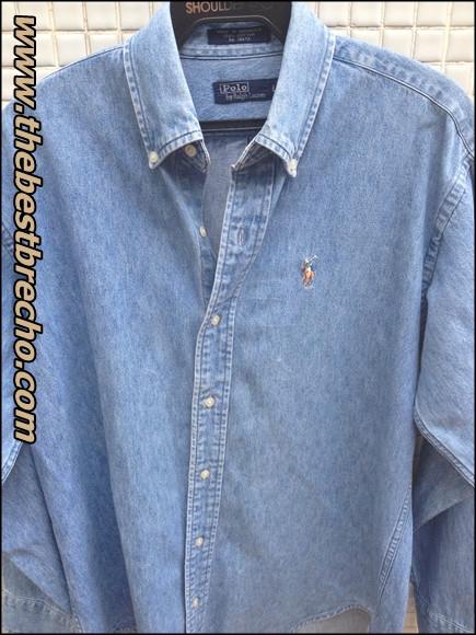 camisa jeans Polo R. Lauren Kids