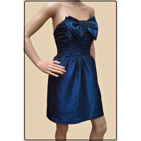 vestido tomara que caia azul