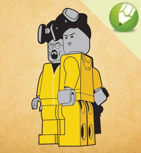Lego Breaking Bad em Vetor - Corel Draw