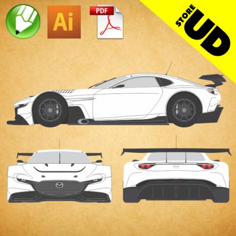Mazda RX-Vision GT3 Concetp - Vetor - CDR, Ai & PDF (Free Download)