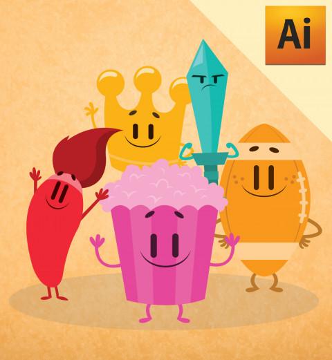 Personagens 02 - Jogo Perguntados em Vetor - Illustrator
