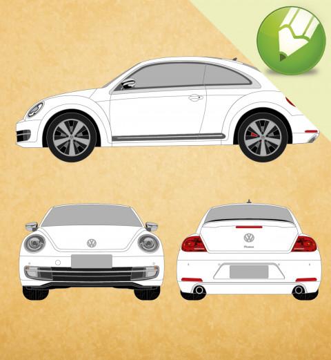 VW Novo Fusca 2015 em Vetor - Corel Draw