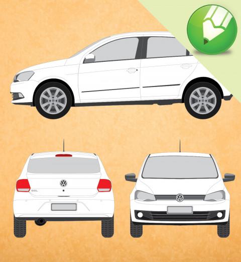 VW Novo Gol 2013 em Vetor - Corel Draw