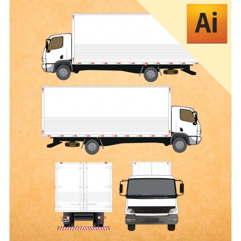 MB Caminhão Accelo 915 em Vetor - Illustrator