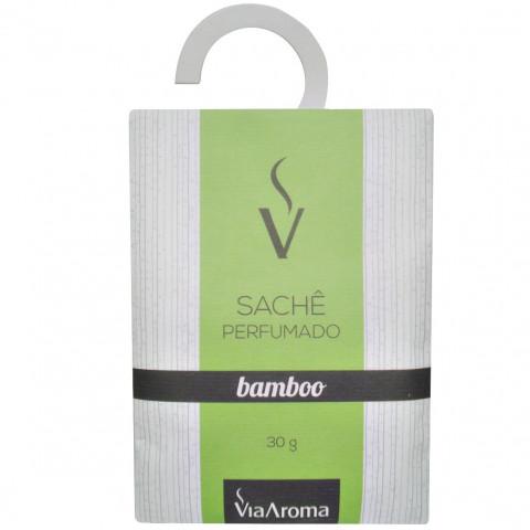 SACHÊ PERFUMADO ANTIMOFO DE BAMBOO VIA AROMA  COM 30GR