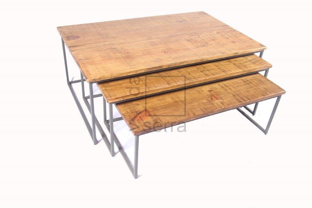JOGO CASCATA TRADICIONAL – 3 mesas de centro multiuso