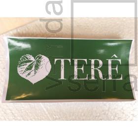 Adesivo Love Terê para vidro, fundo verde, tam G