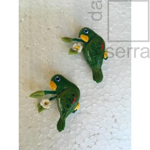 Imã de Geladeria em Biscuit - Fauna de Terê - Maracanã