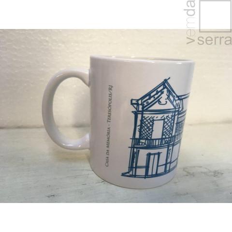 Caneca Arquitetura de Teresópolis - Casa da Memória (azul escuro)