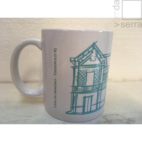 Caneca Arquitetura de Teresópolis - Casa da Memória (azul claro)
