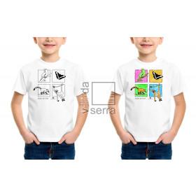 Camiseta Fauna de Terê Infantil para colorir
