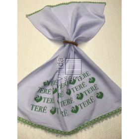 Pano de Prato Love Terê - verde claro