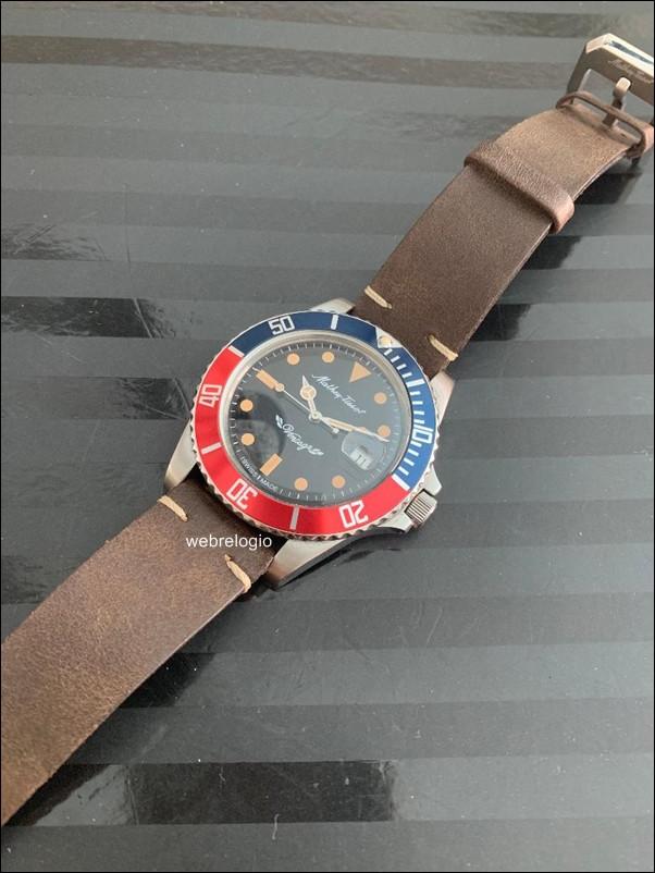 Mathey-Tissot Vintage Dive Automatico Swiss Pepsi Red Blue Bezel. REF.00947