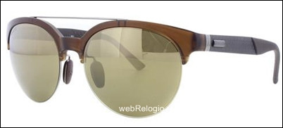 Óculos de Sol Gucci Marron-Ouro Espelhado. REF.00609
