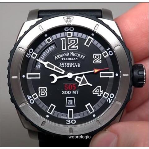 Armand Nicolet Tramelan Titanium Automatic Day Date Dive S05 300m. REF.00938