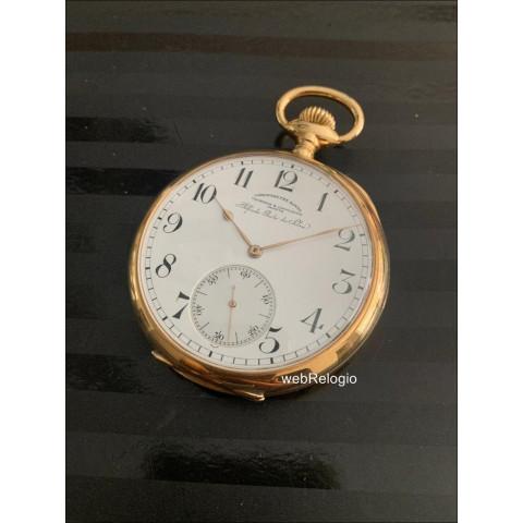 Vacheron Constantin Chronometre Royal Museum Large Pocket 18k Gold 22 lines Bolso. REF.00942
