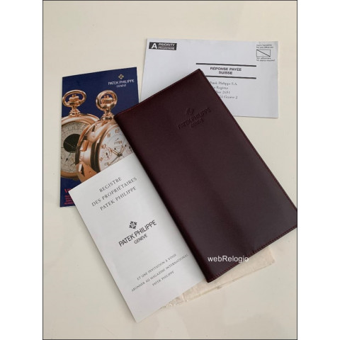 Carteira Porta-Documentos Couro Marron Patek Philippe. ref.00927