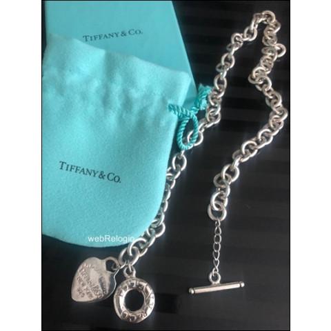 Corrente Relogio de Bolso Prata Tiffany. REF.00806