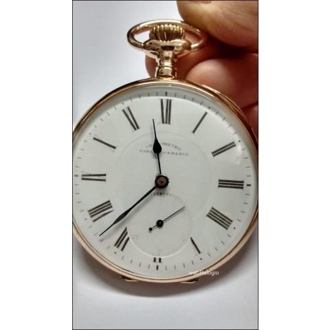 Cronômetro Barão Rio Branco Pocket Watch 18k; REF.00744