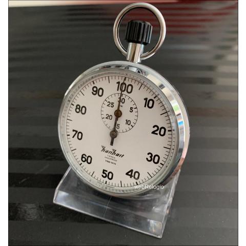 Hanhart Cronometro Profissional Pocket Stopwatch 1/100 Germany. REF.00935
