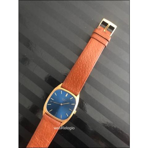 Patek Philippe 18k Solid Gold Ellipse Blue Dial Rare. REF.00274