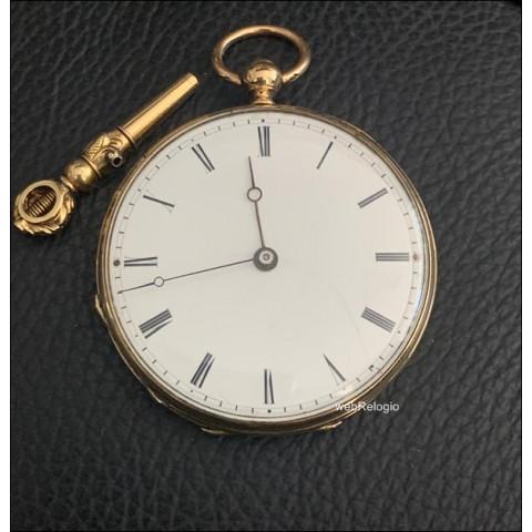 Patek Philippe Bolso Pocket Key Guilloche Gold 18k.Museum. REF.00753