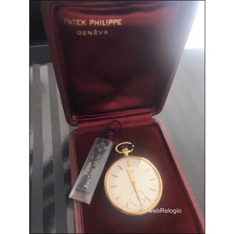 Patek Philippe Pocket Bolso Open Face 18k Gold ref 652/1. REF.00754