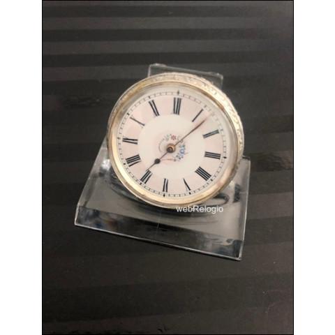 Pocket Swiss Solid Silver Key wind Vintage. REF.00770