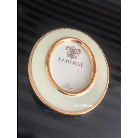 Porta-Retratos Frame Porcelana Gold Green Fabergé. REF.0804