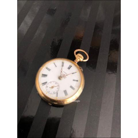 Relógio de bolso Aurea Gold 18k. REF.00879