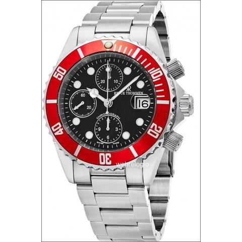 Revue Thommen Diver Chronograph Valjoux 7750 Red. REF.00956